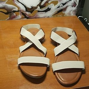 """NEW!! """"Beige Leather"""" Sandles"""